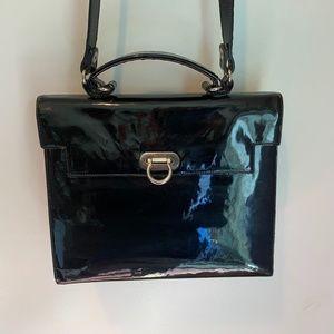 Vintage Furla Patent leather flip lock bag
